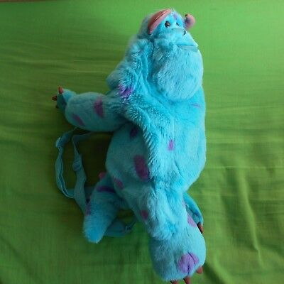 soft plush sulley sully backpack kids bag cuddly teddy toy Monsters inc figure