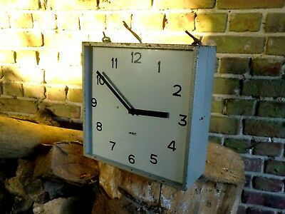 Vintage French Lambert Double Sided Station Factory  Clock