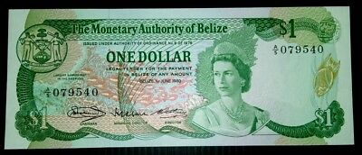 Belize 1980 $1 UNC Note.