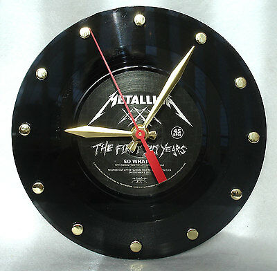 "Recycled METALLICA 45rpm Record ""So What"" 7"" Vinyl Desk or Wall Clock"