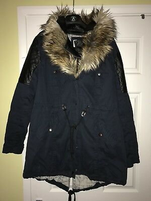 Sze 16 River Island Parka Type Coat In Good Cond