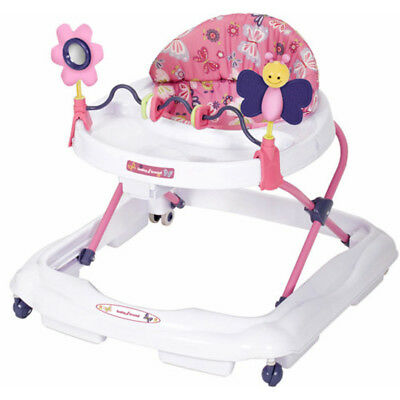 BABY TREND Adjustable Height Toddler Girls Pink Walker with Activity Toys EMILY