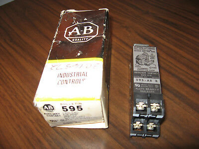 New Surplus Allen Bradley 595-AB Auxiliary Contact (Series B)