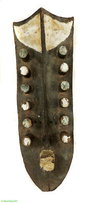Grebo Mask 12 Tubular Eyes Projectiles Liberia African Art SALE WAS $890