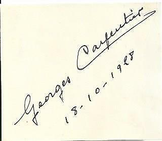 Georges CARPENTIER (1894-1975) World Boxing Champion signed 1928 Card AFTAL