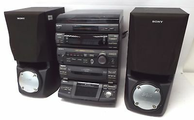 SONY LBT-XB60 Hi-fi Stereo System & Speakers Bundle BLACK with Turntable - C66