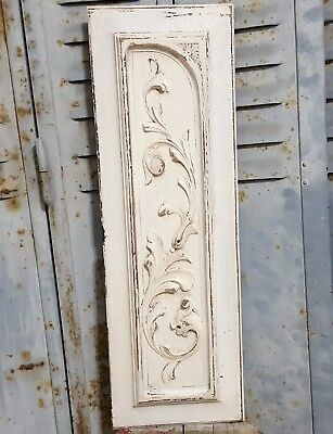 Shabby Carved Wood Panel Antique French Griffin Architectural Salvage Carving