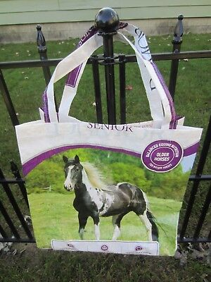 Upcycle~Black & White Painted Horse Feed Recycled Feed Bag~Grocery~Market Tote