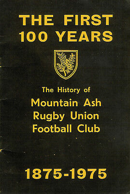 The History of Mountain Ash Rugby Union Football Club 1875 - 1975 BOOKLET RARE