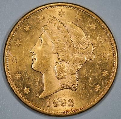 1892 S Liberty Head $20 Gold Double Eagle Item#J2023