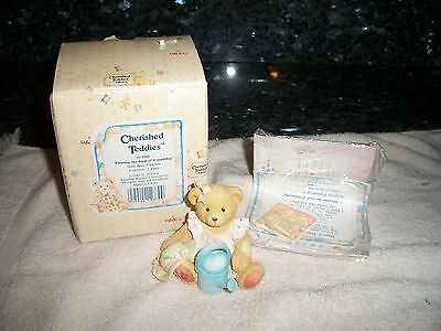 "Cherished Teddies ""Planting the Seed of Friendship"" 1993 - With Box No Reserve"