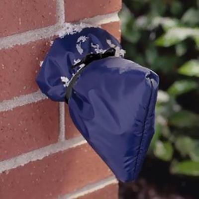 """Dark Blue Outdoor Faucet Cover, Insulate & Protect, Soft/ Flexible, 7""""Lx 6""""W"""