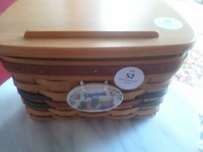 Longaberger Shades Of Autumn  Recipe Basket Combo With Cards,tie On Liner