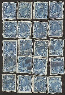 Stamps Canada # 117, 10¢, 1922, lot of 20 used stamps.