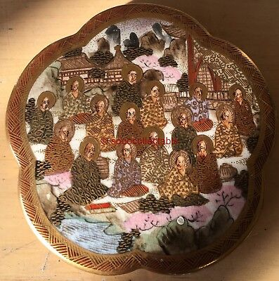 signed QUALITY MEIJI JAPANESE 1000 FACES at COURT SATSUMA POT LID