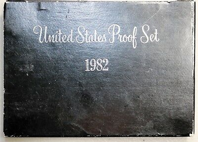 1982 United States Mint Proof Set 5 Coins