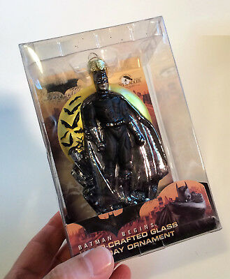 DC Comics Batman Begins Kurt  Adler Hand-Crafted Glass Xmas Ornament Gotham New