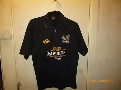 London wasps rugby shirt small Rugby polo shirt top Canterbury Magners