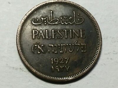 PALESTINE 19271 Mil coin nice condition