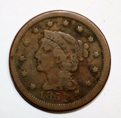 1852 Braided Hair Large Cent   N17064
