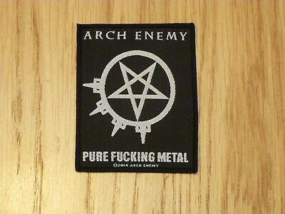 Arch Enemy - Pure Fucking Metal (New) Sew On W-Patch Official Band Merchandise