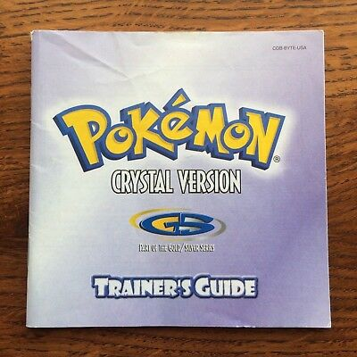 Pokemon Crystal Version Trainers Guide Nintendo Gameboy Instruction Manual Only