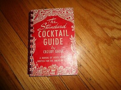 Standard Cocktail Guide Crosby Gaige Vintage Drink Recipes 1949