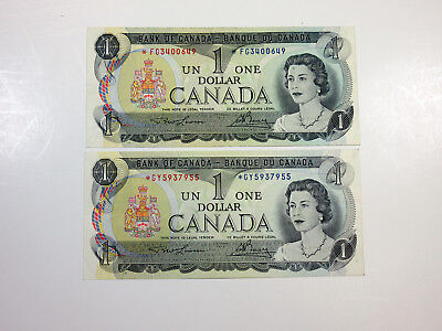 Canada 1 Dollar 1973 P-85 Star/Replacement VF (2 pcs)