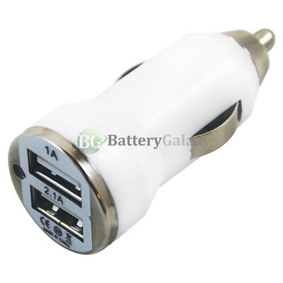 100X Universal Dual 2 Port Car Charger 2.1 Amp for iPhone / Android Cell Phone