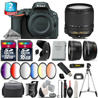 Nikon D5500 DSLR Camera + AFS 18-140mm VR + 6PC Graduated Filter - 48GB Bundle