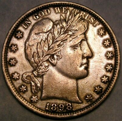 1898 Barber Silver Half Dollar Tougher Date W/scars Check Store 4More Greatcoins