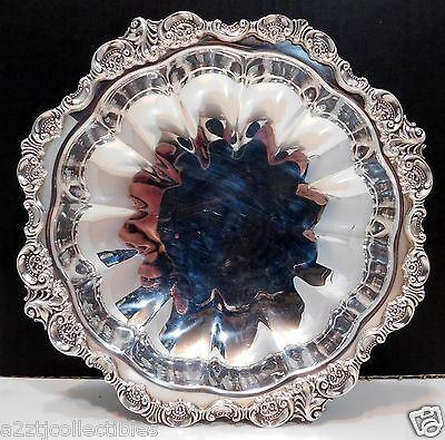 Wallace Baroque Pattern Silver-plate Footed Bowl Compote