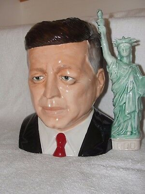 Rare Prototype of JOHN F KENNEDY - J F K - Large Character Toby Jug - Excellent