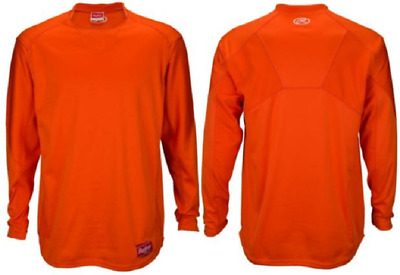 Rawlings UDFP3−BO Mens X-Large Orange Dugout Fleece Pullover Long Sleeve New!