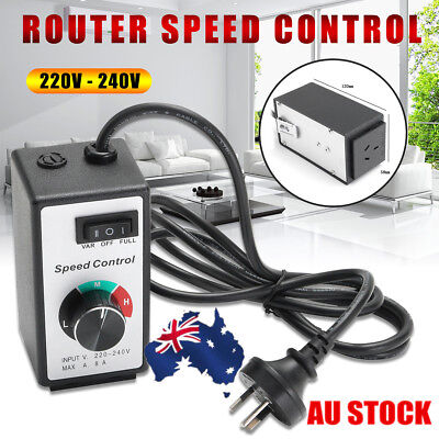 AU 8A 220V Variable Router Fan Speed Controller Control Motor Rheostat AUS Plug