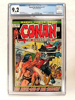 Marvel Comics Conan The Barbarian #17 (1972) Gil Kane CGC 9.2 White Pages FL627