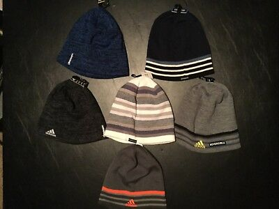 Adidas Reversible Eclipse Men Beanie Climawarm New With Tags Black Navy