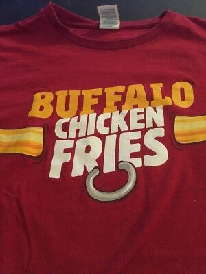 Authentic Burger King Buffalo CHICKEN FRIES T-Shirt Size MEDIUM Free Shipping