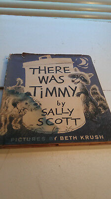 Vintage WIRE-HAIRED FOX TERRIER Illust Dog Story THERE WAS TIMMY Sally Scott