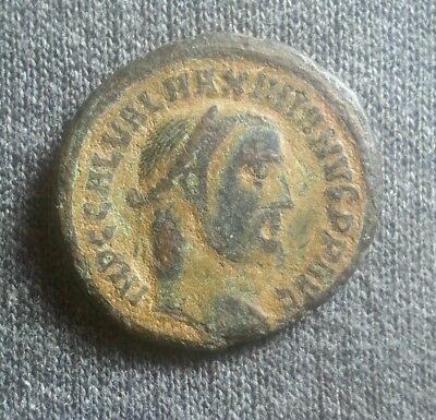 MAXIMIANUS ROMAN EMPIRE LARGE FOLLIS ALEXANDRIA MINT GENIUS GENIO XF sharp coin