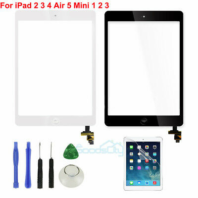 Touch Screen Digitizer Replacement For Apple iPad 2 3 4 Mini Air Black / White