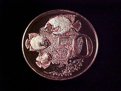 Cayman Islands 50 Cents Silver Proof 1973 Tropical Fish Nice