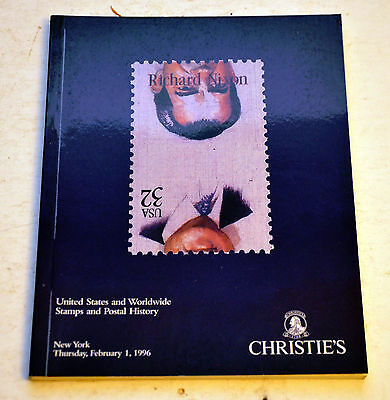 Christies United States and Worldwide Stamps Postal History 1996 Auction Catalog
