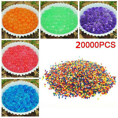 20000x Water Ball Crystal Pearls Jelly Gel Beads for Orbeez Toy Refill Decor