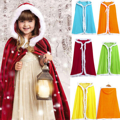 Kids Childrens' Christmas Costume Santa Hooded Cosplay Cape Robe for Boy Girl