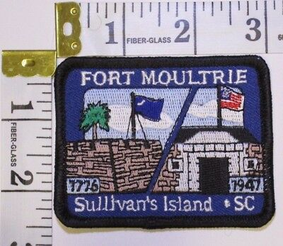 Fort Moultrie Sullivan's Island South Carolina Souvenir Patch