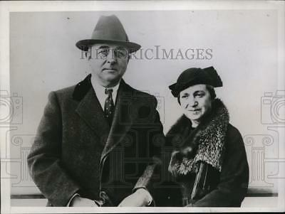 1935 Press Photo Dr Ames H Oughton Killed By One of Four Bandits in Holdup