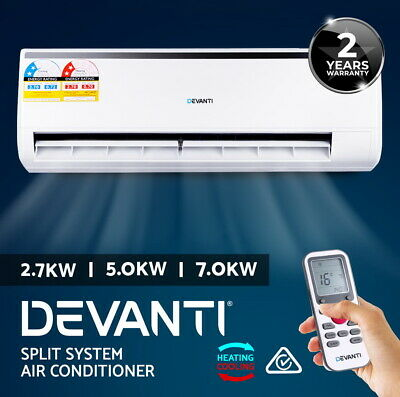 2.7/ 3.3/ 5.0KW Split System Air Conditioner Cooling/Heater Reverse Cycle White