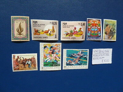 UNO Genf 1988, Lot aus 1988, Michel 162, 163, 164, 167, 168, 169, 170, 171, **