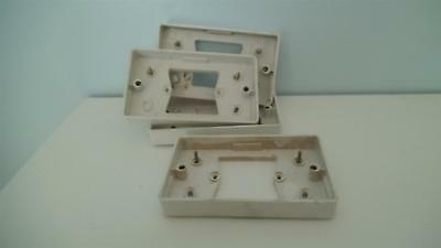 Single socket outlet to double socket outlet conversion boxes